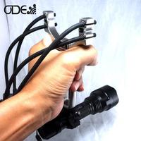 Odepro High power Slingshot Stainless steel hadle hunter sling shot catapult shooting 2 or 4 strips rubber