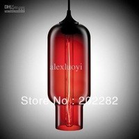 Free shipping!Hot selling Niche Modern glass pendant light by julie,Solitaire dia15cm*h33cm