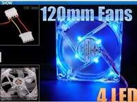 1Pcs/lot 120mm Fans 4 LED  for Computer PC Case Cooling [2135|01|01]