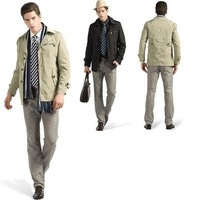 Free shiping New 2013 autumn -summer jacket and  men's winter jacket and big size casual men coat F2006