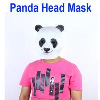 Freeshipping Panda Animal Head Mask Halloween Costume Party Christmas Theater Prop Latex wholesale