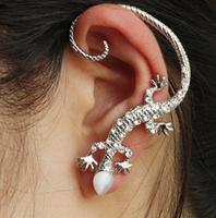 Factory direct jewelry animal legs lizard Czech drilling ear hook earring alloy plating earrings wholesale C224
