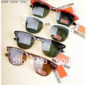 2013 new Free shipping Best quality Brand sunglass men's/women's Fashion R30160 Black sunglass Green lens 50mm with box  <<< sos
