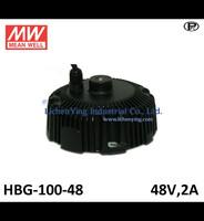 Mean Well 48V 2A LED high low bay lighting Driver spot lighting power supplies circular shape HBG-100-48 LED Power Supply