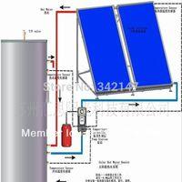 split pressurized solar water heater system ,water heater collectors, flat panel solar collector  with SRCC Solar Keymark CE