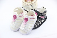 Free shipping High quality kid's shoes newborn baby girl Leather sandals baby first walkers shoes Wholesale retail