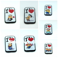 Cute Cartoon Love Red Heart Despicable Me 2 Minions Hard Plastic Back Case For Samsung Galaxy Grand Duos i9082