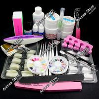 Pro Nail Art UV Gel Kits Brush Remover nail tips glue Tools