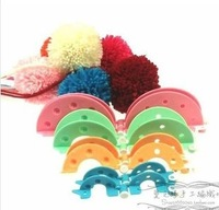8Pcs/set 4 Sizes Essential Pom-Pom Pompom Maker Fluff Ball Weaver Needle Craft Knitting Tool DIY Set- Random Color needlework