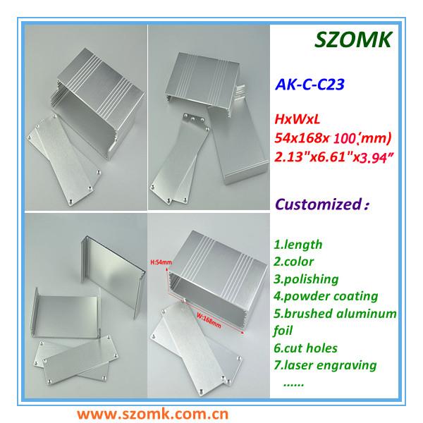1 piece 54*168*100mm 2.13*6.61*3.94inch cabinet customized aluminum(China (Mainland))