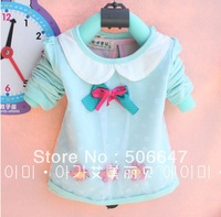 2013 new brand children's clothing han edition girls long-sleeved T-shirt lap 3 little flower long sleeve T-shirt