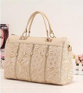2013 Korean Women Lace Bag Sexy Shoulder Purse Handbag Tote Bags Boston Hotsale New Free shipping(China (Mainland))