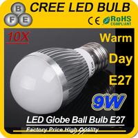 10PCS 9W 3x3W E27 Globe LED Light Bulb Warm White Energy Saving Lamp AC85V-240V