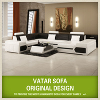 VATAR classical furnitures,modern design leather sofa ,living room sofas oem