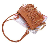 Free shipping 100PCS/Lot Fashion Fringe Tassel Hand Style Women lady Satchel Bag Shoulder Messenger Bag
