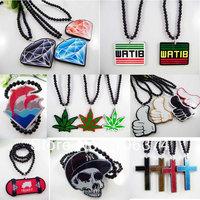 Hiphop Acrylic Necklace Fashion Pendant Hip Hop Necklace ZY061 - ZY052