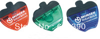 Plastic apple shaped  magnetic  clip with magnet on back and durable rubber grip,memo clip,