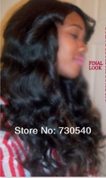 Freeshipping,Natural Scalp color 4*4 SILK TOP full lace wigs glueless fashion wavy 10''--24''Virgin Peruvian human hair(446)
