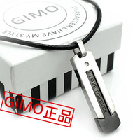 Gimo personality male accessories refined titanium male necklace male love necklace