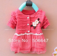 2013 Girls' skirts child long-sleeved chiffon autumn outfit detonation