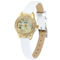 Free shipping Hot Sale Style Watch, Fashion Leather Strap Quartz Watch Dial set with Rhinestone Fashion Persona New Gift Watch
