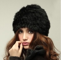 2013 New Fashion Real Knitted Rabbit Fur Hat headgear Various Fashion Cap For Women Free Shipping ZX0209