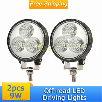 Epistar 9W 3'' Mini LED Driving Fog Light Car 12V 24V 4x4 4WD SUV ATV UTV Motorcycle Truck  Work Lamp Engineering Service Lamp
