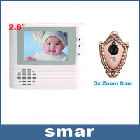 "2.8"" Digital LCD Monitor Door Peephole Viewer 3X Zoom Camera Door Belling Alarm with Photo Function Free Shipping"