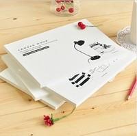 FreeshippingHot wholesale Korean stationery korean school supplies binder sketchbook Students painting dedicated blank journal