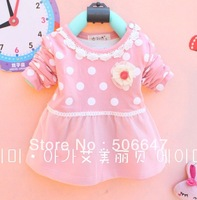 2013 with the new brand children's clothing wholesale han edition girls long-sleeved T-shirt