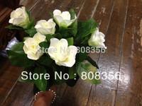 "20Pcs 30cm/11.81"" Length Artificial Simulation Continental Single Head Gardenia Table Flower Flowers Wedding home Party Flowers"