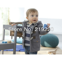 Free shipping 2pcs/lots kids jacket the coat winter infant child popular children overcoat horn button casual boy outerwear