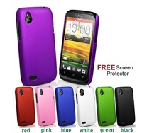 Free Shipping Hybrid Hard Case Cover For HTC Desire V T328w Desire X T328e + Screen Protector