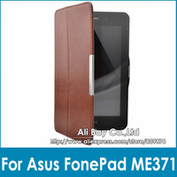 1pc NEW Smart Ultra Slim Auto Sleep Magnetic Leather Case Flip Cover For Asus FonePad ME371 ME371MG 7 inch Tablet 7'' Free ship
