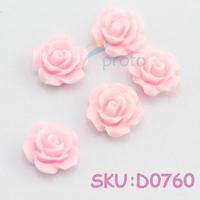 100x  3D Pink  Resin Rose Nail Art Decoration wholesales  SKU:D0760