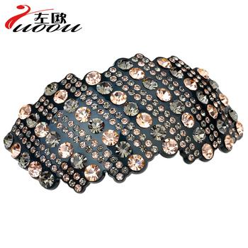 Hair accessory luxury full rhinestone hairpin hair pin horseshoers spring clip folder clip hair accessory