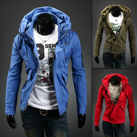 2013 men's autumn and winter clothing jacket male slim outerwear male casual jacket coat jk04-p90