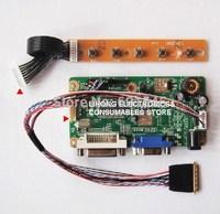Free shippin VGA+DVI B.NTA92C LCD Controller Board Kit for LED backlight LCD Screen, Laptop Screen Converter