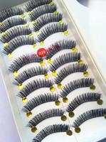 Free Shipping Best Handmade False Eyelashes  Synthetic Thick Cross Long False Eyelashes 10Pairs