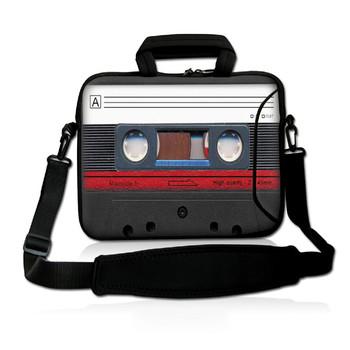"13"" Cassette Tape Laptop Bag Carry Case  Sleeve w.Pocket,Shoulder Strap Fit 12.5"" 13"" 13.3"" HP Dell Acer Sony Sumsang Laptop"