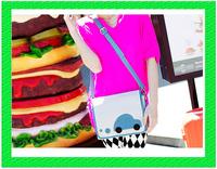 B167 Drop shipping New cars hit color printing PU bag Shoulder Messenger for women