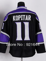 Free Shipping -#11 Anze Kopitar Men's Authentic Third Black Hockey Jersey