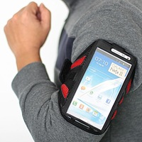 free shipping 10pcs/lot Good quality,sports running waterproof armband cover case for samsung galaxy Note II Note 2 N7100
