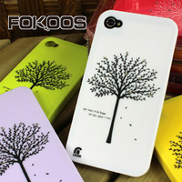 For iphone   4 4s shell  for apple   mobile phone rhinestone case wishing tree lucky phone case
