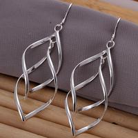 """Free shipping lowest price wholesale for women's 925 silver earrings 925 silver fashion jewelry """"8"""" drop Earrings SE168"""