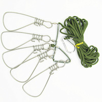 Free Shipping 5 fish buckle Rope length 4.5 m	Fishing Lock 3pcs/lot