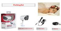 Free shipping cctv camera system kits CMOS 480TVL 24LED IP66 18m cable