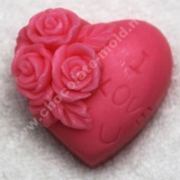 DIY Heart-shaped rose Chocolate mold silicone mold cooky mold soap mold R0227