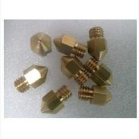 3pcs 0.4mm Brass Extruder Nozzle For MK8 Makerbot Reprap 3D Printer