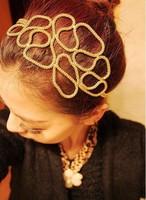 new hairband fashion women hand-string hair band, headband, hair accessories, Metal hairband  10  pcs/lot
